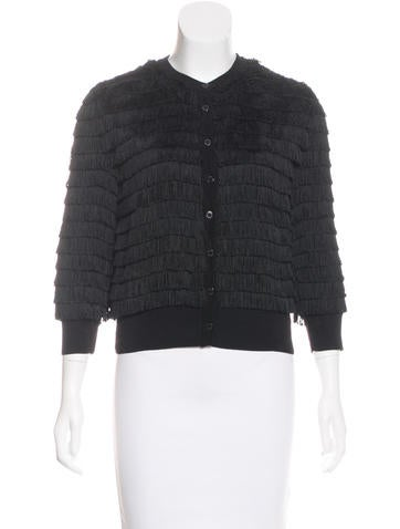 Dolce & Gabbana Fringe-Accented Lightweight Cardigan w/ Tags None