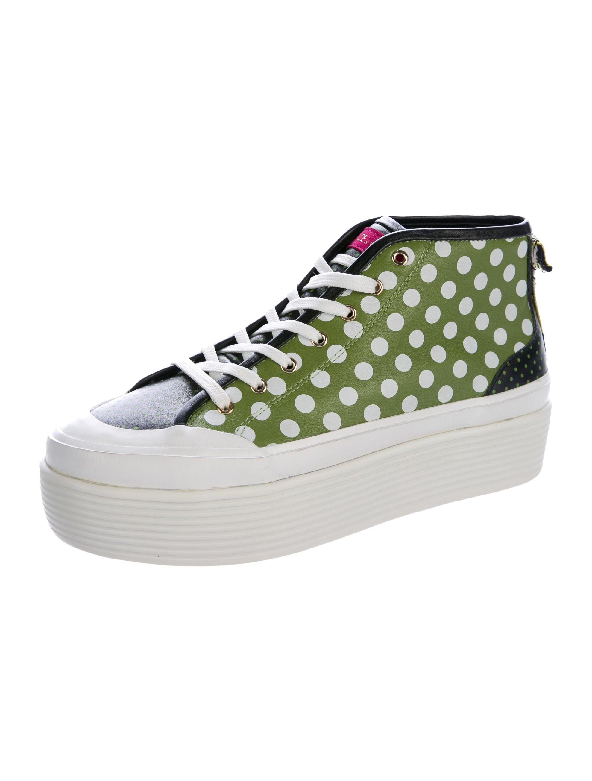 dolce gabbana leather platform sneakers shoes. Black Bedroom Furniture Sets. Home Design Ideas