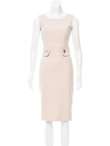 Dolce & Gabbana Sleeveless Wool Midi Dress None