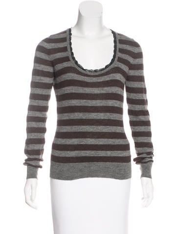 Dolce & Gabbana Striped Knit Top None