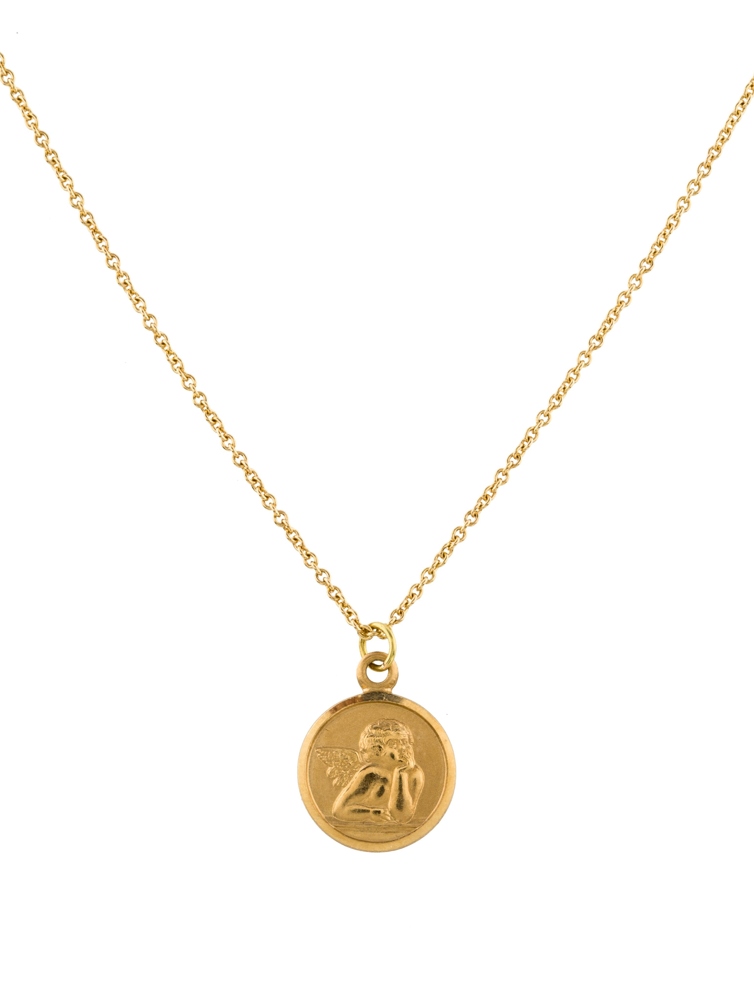 Dolce gabbana 18k angel pendant necklace necklaces dag88474 18k angel pendant necklace aloadofball Image collections