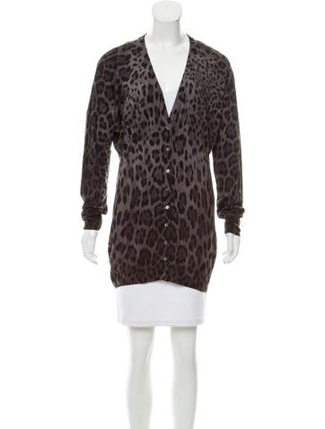 Dolce & Gabbana Leopard Button-Up Cardigan None