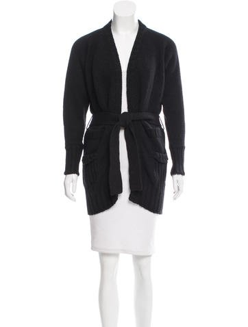 Dolce & Gabbana Belted Knit Cardigan None