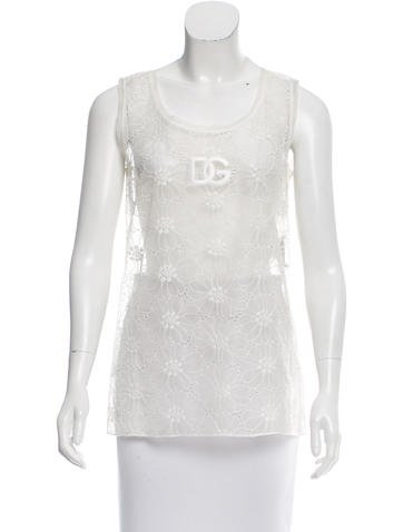 Dolce & Gabbana Lace Logo Top w/ Tags None
