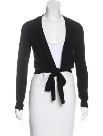 Dolce & Gabbana Wool Tie Front Cardigan None
