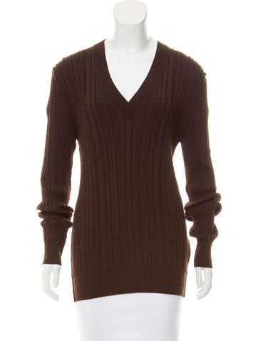 Dolce & Gabbana Wool V-Neck Sweater None