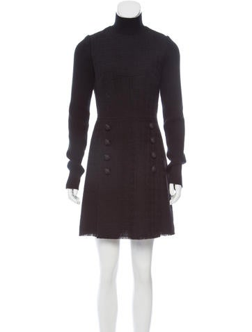 Dolce & Gabbana Virgin Wool Tweed Dress w/ Tags None