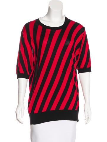 Dolce & Gabbana Striped Knit Top None