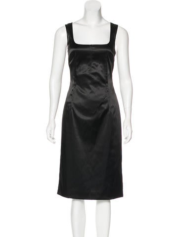 Dolce & Gabbana Satin Midi Dress w/ Tags None
