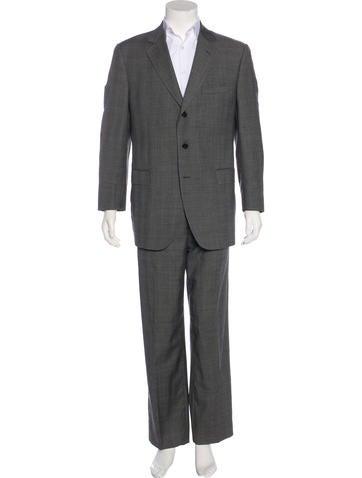 Dolce & Gabbana Plaid Wool Suit None