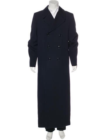 Dolce & Gabbana Double-Breasted Wool Overcoat None