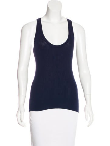 Dolce & Gabbana Sleeveless Rib Knit Top None