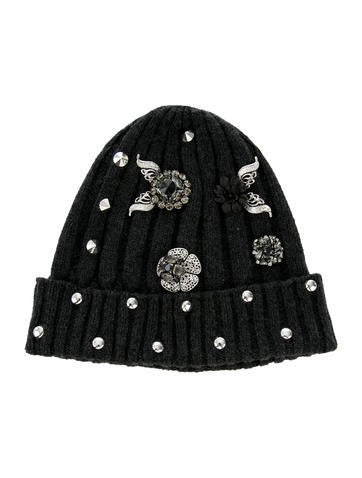 Dolce & Gabbana Embellished Cashmere Beanie None