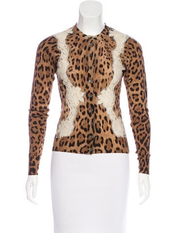Dolce & Gabbana Wool Printed Cardigan None