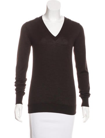 Dolce & Gabbana Long Sleeve V-Neck Sweater None