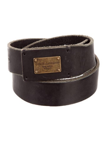 Dolce & Gabbana Distressed Leather Belt None