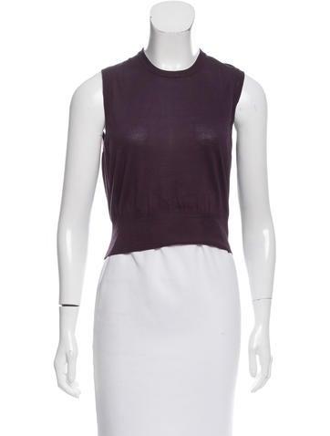 Dolce & Gabbana Sleeveless Silk Sweater w/ Tags None