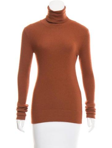 Dolce & Gabbana Rib Knit Silk-Cashmere Turtleneck w/ Tags None