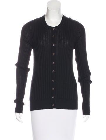 Dolce & Gabbana Rib Knit Long Sleeve Cardigan None