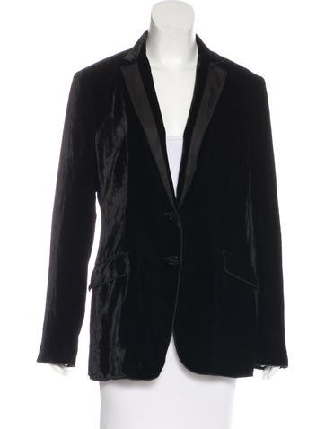 Dolce & Gabbana Velvet Structured Blazer None