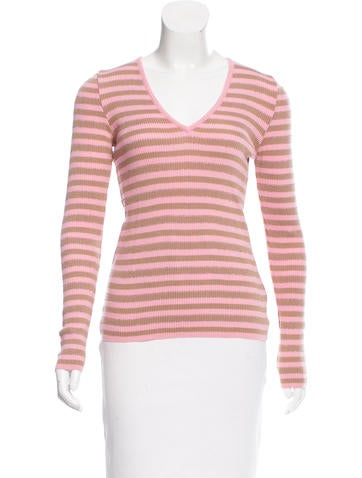 Dolce & Gabbana Striped Wool Sweater None