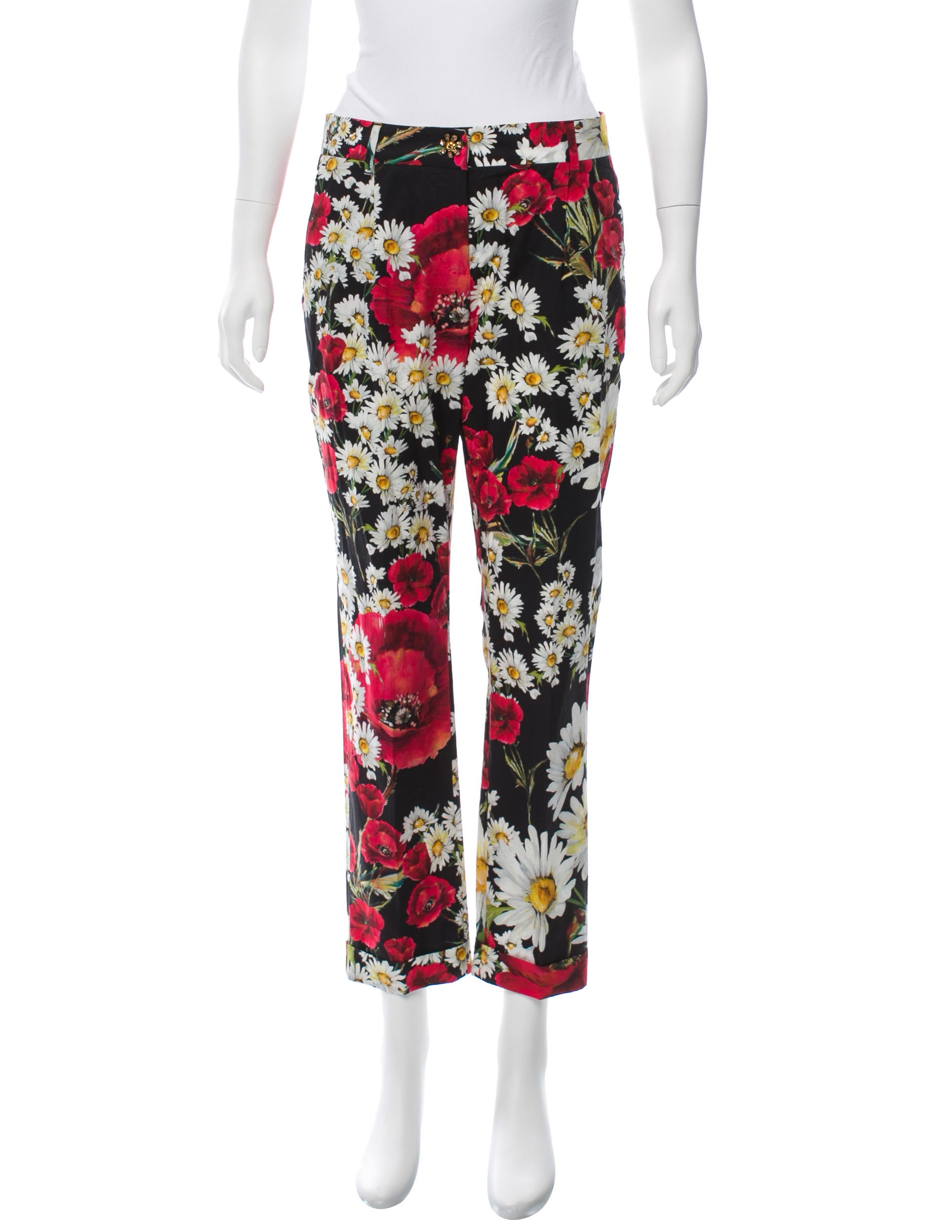 Dolce & Gabbana Printed Mid-Rise Pants Buy Cheap Best Wholesale Quality Clearance Countdown Package Geniue Stockist For Sale Cheap Sale Find Great 4wVBOiv