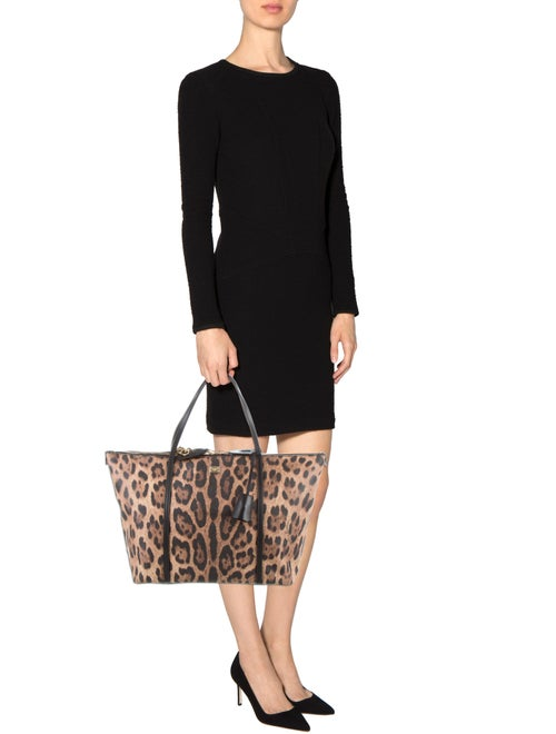 762b5dde Dolce & Gabbana Miss Escape Leopard Print Tote - Handbags - DAG91919 ...