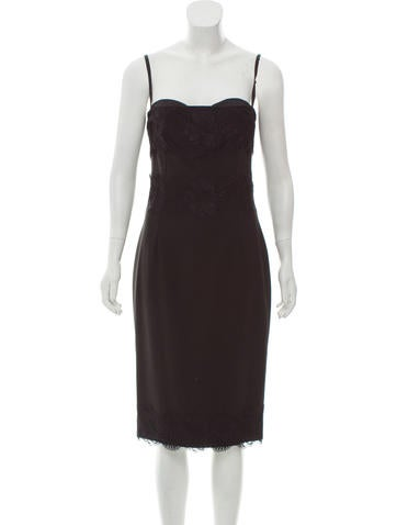 Dolce & Gabbana Lace-Accented Sleeveless Dress w/ Tags None
