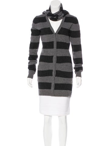 Dolce & Gabbana Wool Striped Cardigan None
