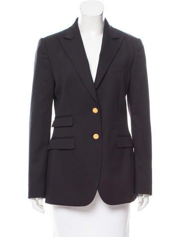 Dolce & Gabbana Notched Lapel Wool Blazer None