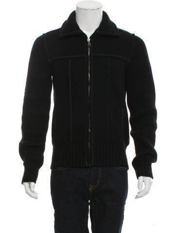 Dolce & Gabbana Wool Zip-Up Sweater None