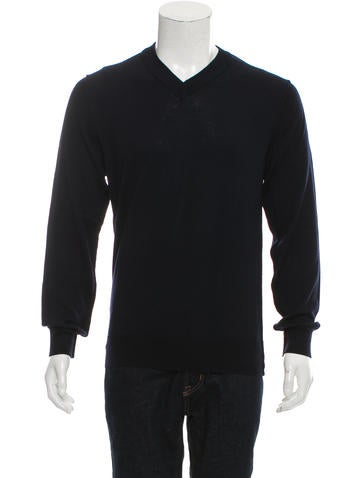 Dolce & Gabbana V-Neck Rib Knit-Trimmed Sweater None