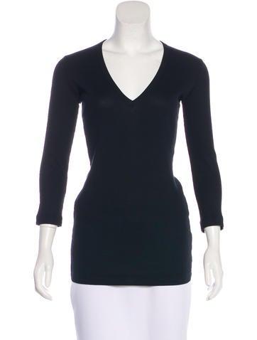 Dolce & Gabbana Rib Knit Long Sleeve Top None
