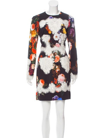 Dolce & Gabbana Lace-Trimmed Floral Dress None