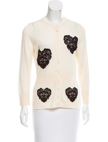 Dolce & Gabbana Sacred Hearts Wool Cardigan None