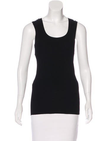 Dolce & Gabbana Rib Knit Sleeveless Top None