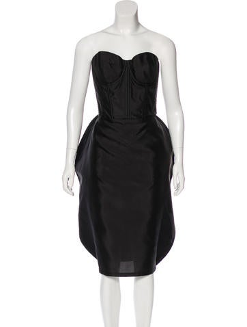 Dolce & Gabbana Silk Midi Dress w/ Tags None
