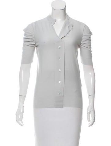 Dolce & Gabbana Wool Short Sleeve Top None