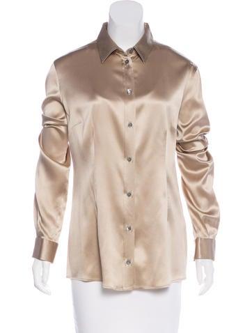 Dolce & Gabbana Silk Long Sleeve Top None