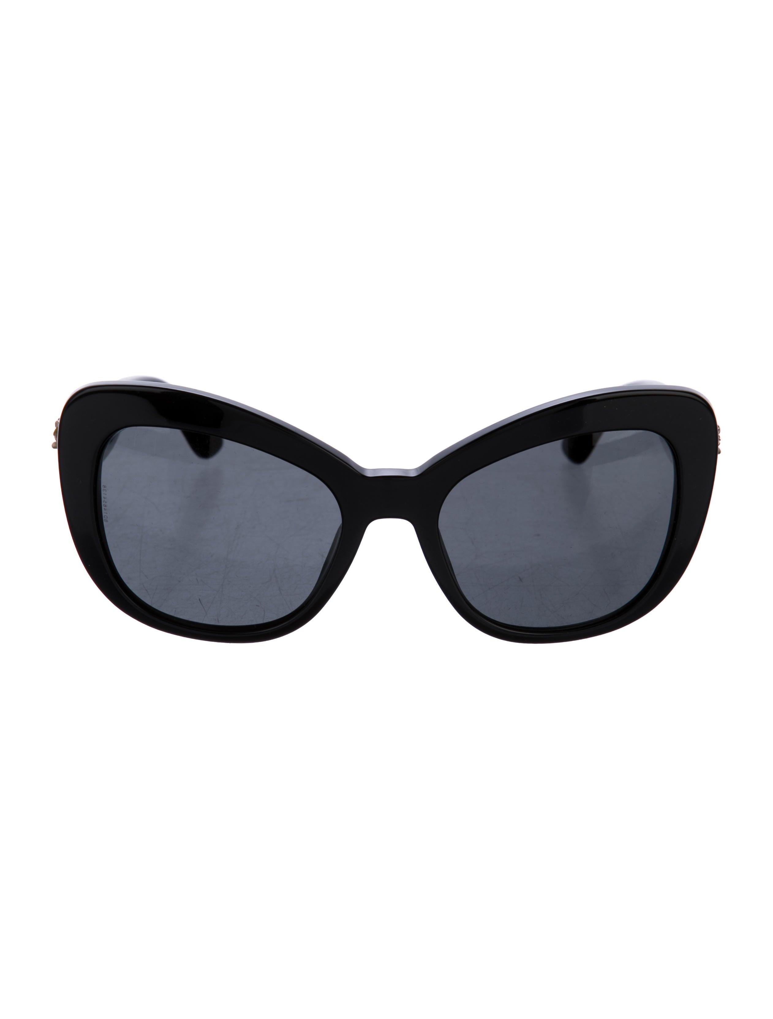 a2d038c9b1963 Dolce   Gabbana Almond Flowers Cat-Eye Sunglasses - Accessories - DAG92865