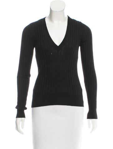 Dolce & Gabbana Long Sleeve V-Neck Top None