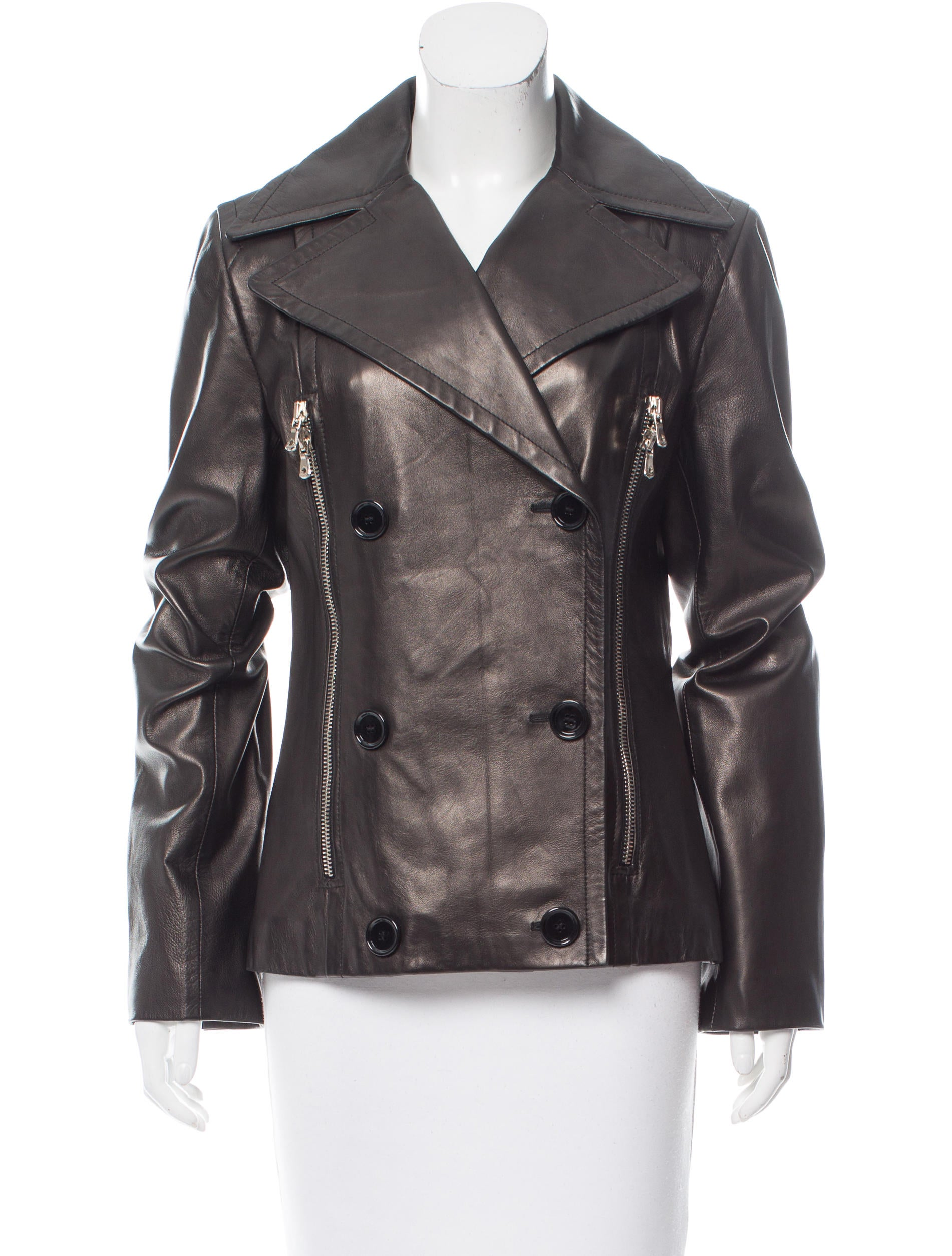 Dolce gabbana double breasted leather jacket clothing for Leather jacket and shirt