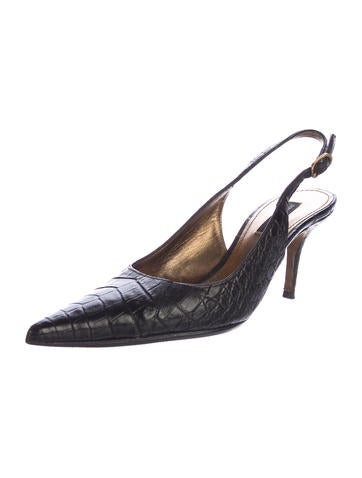 Dolce & Gabbana Alligator Slingback Pumps latest collections cheap price for sale the cheapest pictures sale online Xfrhj