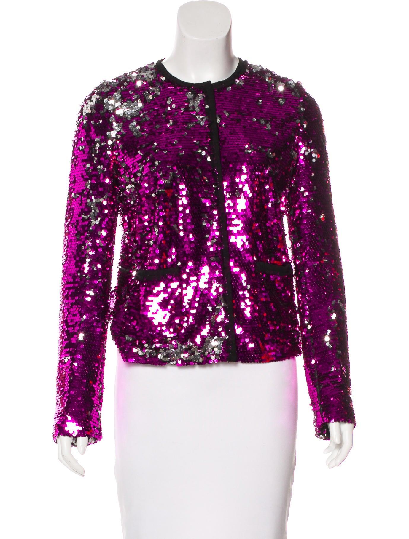 dolce gabbana sequin embellished jacket clothing dag93289 the realreal. Black Bedroom Furniture Sets. Home Design Ideas