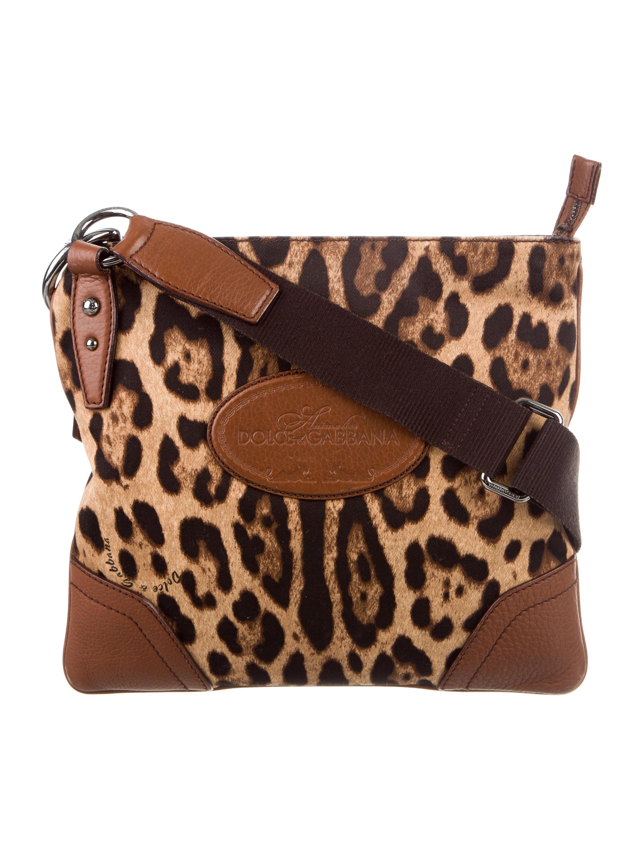 Dolce Amp Gabbana Animal Print Messenger Bag Handbags
