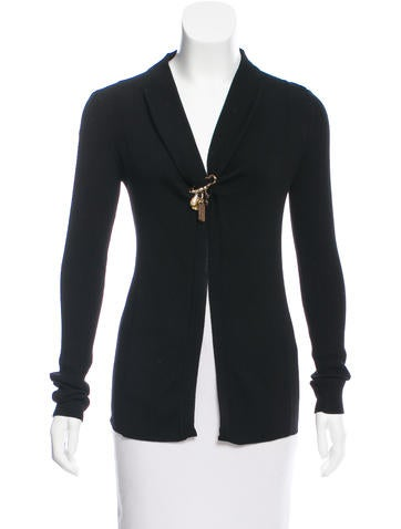Dolce & Gabbana Long Sleeve Wool Cardigan None