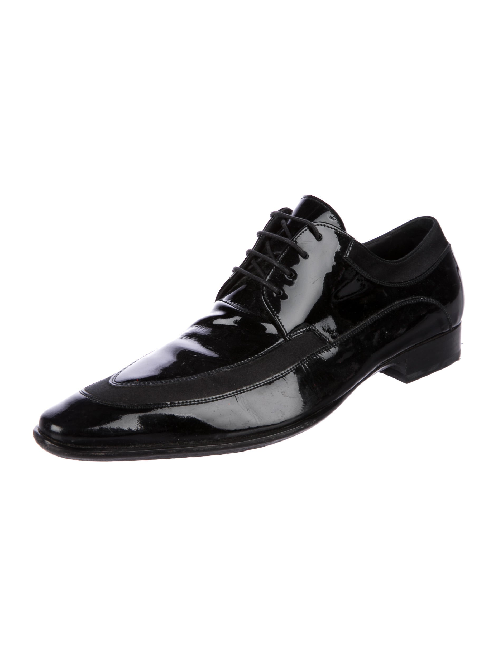 dolce gabbana patent leather derby shoes shoes