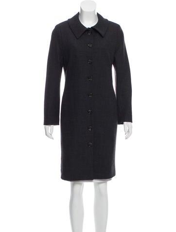 Dolce & Gabbana Button-Up Wool Coat None