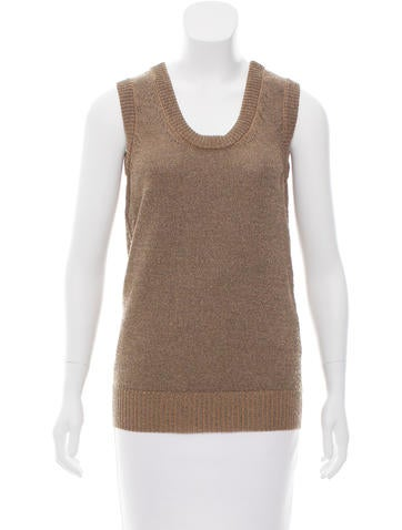 Dolce & Gabbana Sleeveless Knit Top w/ Tags None