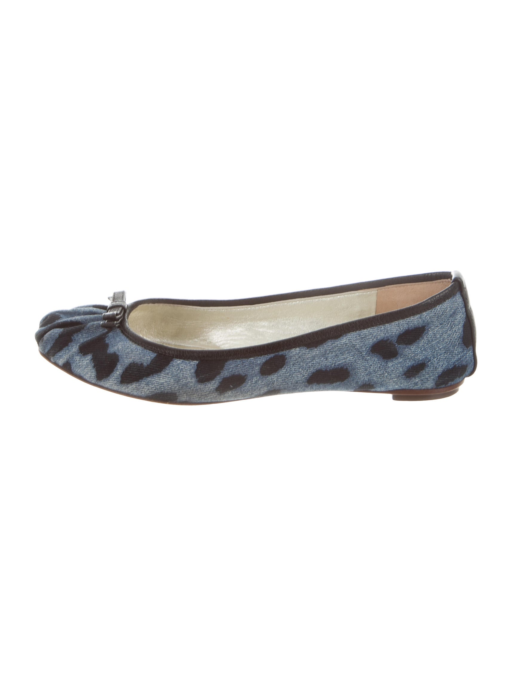 with paypal cheap price discount classic Dolce & Gabbana Denim Leopard Print Flats shopping online sale online buy cheap recommend 8syhq5Fa